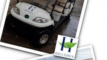 Hilltown Mall Prefers Electric Golf Car - Green Car #greencar #golfinternational #hıilltownavm
