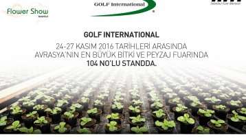 Golf International Flower Show 2016' da!
