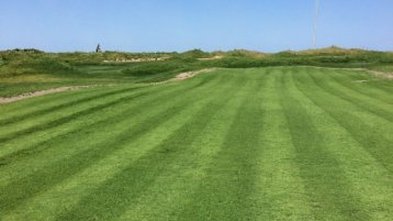 Samsun Golf green, the first cut was made